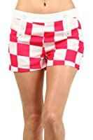 Sexy Checkered Low-Waist Stretchy Mini Shorts