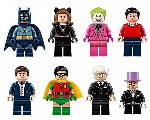 8 pcs Set Batman TV Figures Lot Bricks Blocks Toy Robin Penguin Catwoman Joker