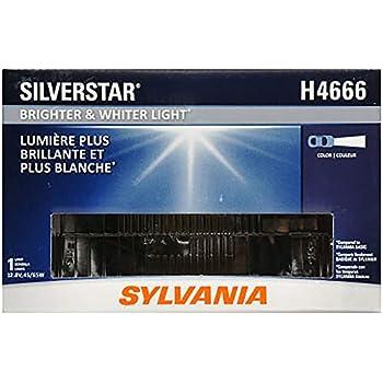 SYLVANIA - H4666 SilverStar Sealed Beam Headlight - High Performance Halogen Headlight Replacement (100x165), Brighter & Whiter Light for Added Clarity ...