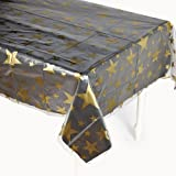 Clear Gold Star Print Table Cover