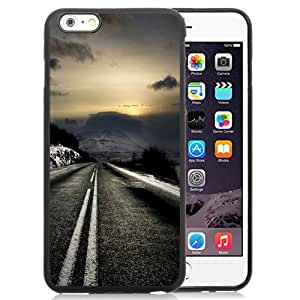 NEW Unique Custom Designed iPhone 6 Plus 5.5 Inch Phone Case With Mountain Road Sunrise_Black Phone Case