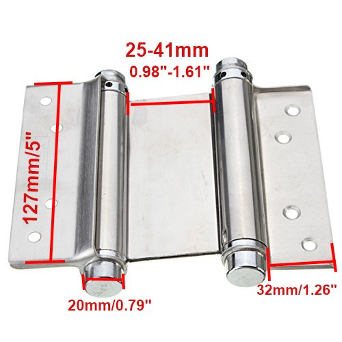 ZXHAO Cafe Saloon Door Swing Self Closing Double Action Spring Hinge 2pcs (5 inch) by ZXHAO (Image #3)