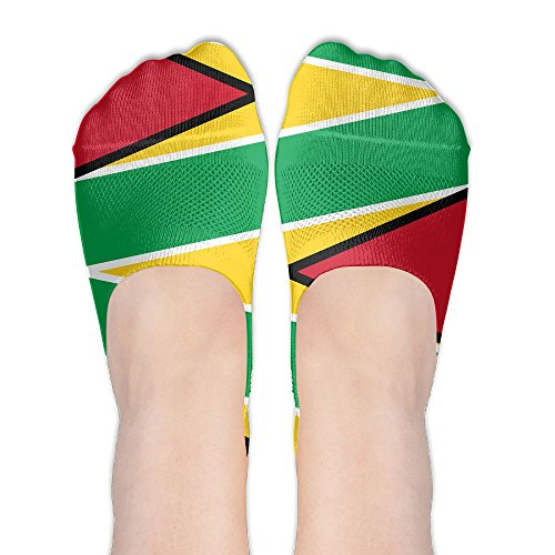 Guyana Flag Women's No Show Socks Pattern Low Cut Liner Casual Athletic Ankle Socks For (Country Kids Soccer Bootie)