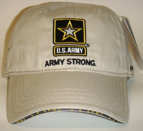 NASCAR Mark Martin U.S. Army #8 Khaki Buckle back Cap