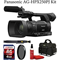 Panasonic AG-HPX250PJ 1/3 2.2 megapixel P2 Handheld Camcorder + Deluxe Case + Air Blower + Lens Cleaning Brush + Multi-Coated CPL Filter + 4GB Memroy Card