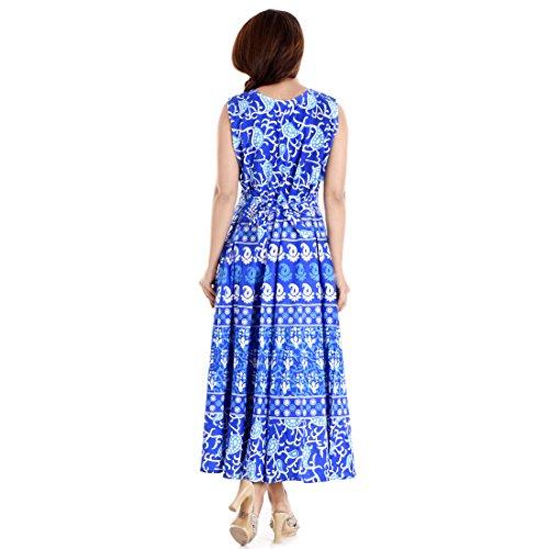 Jaipuri Long One Piece Turquoise Maxi Dress