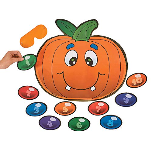 Fun Express  Silly Pin The Nose On The Pumpkin Game for Halloween  Toys  Games  Pin The amp Bulls Eye Games  Halloween  2 Pieces