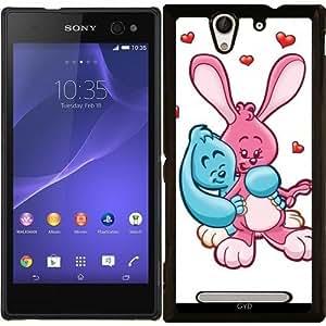 Funda para Sony Xperia C3 - Conejos Hr En El Amor by Cadellin
