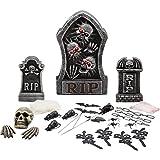 """Halloween 22"""" RIP Tombstone Prop 24 Piece Set"""