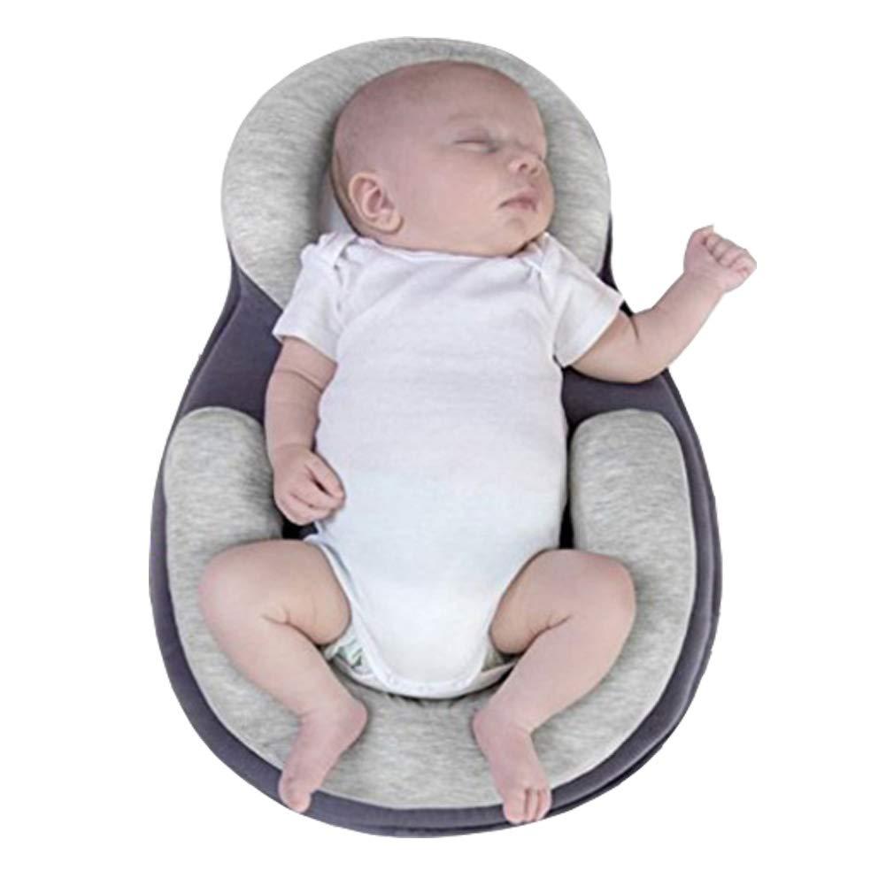Beige Merry Angel Baby Pillow Correction Newborn Stereotype Pillow Baby Styling Pillow Anti-Head Newborn Anti-Rollover Corrective Mattress Anti migraine Newborn Baby Pillow