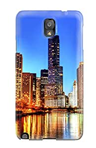 Tpu Case Cover Compatible For Galaxy Note 3/ Hot Case/ Chicago City