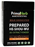 He Shou Wu Fo ti Root Extract Powder – by Primal Herb | Longevity Tea – Supports Hair Growth & Glowing Skin | Organic Potent 30:1-84 Servings – Aged Roots | Includes Bamboo Spoon For Sale