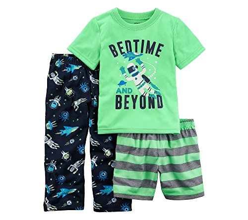 Carter's Boys' 2T-20 3-Pc. Glow in The Dark Bedtime and Beyond Pajama Set 2T ()