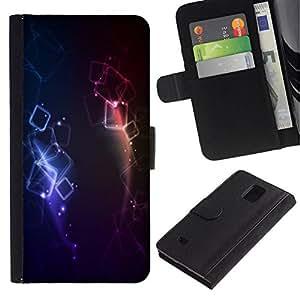 All Phone Most Case / Oferta Especial Cáscara Funda de cuero Monedero Cubierta de proteccion Caso / Wallet Case for Samsung Galaxy Note 4 IV // Colors