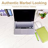 """Marble Contact Paper 17.5"""" x 78.7""""- Peel and Stick Self Adhesive Contact Paper for Countertops. Decorative Wallpaper for Home and Office. Matte Marble Effect, Removable, Waterproof, Stain-Resistant"""