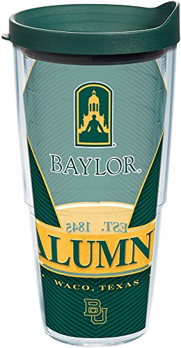 (Tervis 1222767 Baylor Bears Alumni Tumbler with Wrap and Hunter Green Lid, 24 oz - Tritan, Clear )