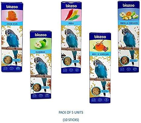 biozoo Pack 5 Unidades Barritas de Fruta /& Cereales para Periquitos