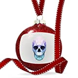 Christmas Decoration Low Poly Animals Modern design Blue Skull Ornament