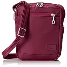 PacSafe Citysafe CS75 Anti-Theft Cross-Body and Travel Bag, Cranberry