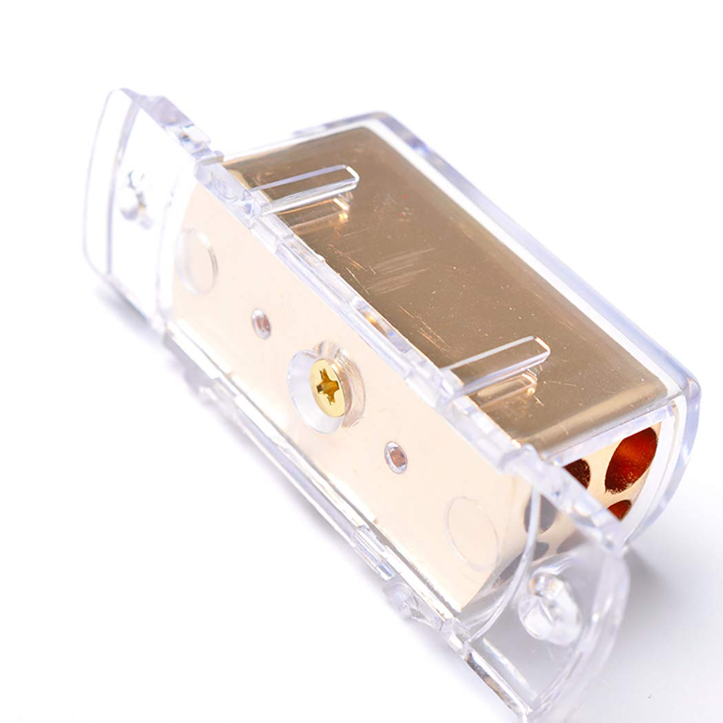 Fansport Power Distribution Block Amp Bloque De Distribuci/óN De Divisor De Cable De Tierra para Audio De Autom/óVil