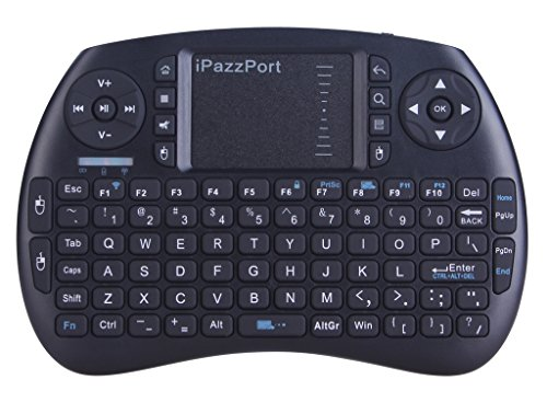 iPazzPort Wireless Mini Keyboard with Touchpad for Android TV Box and Raspberry Pi 3 and HTPC KP-810-21S Black (Flip Up Keyboard)