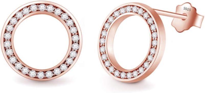 Bosi General Merchandise Pendientes de Plata de Ley 925 de Moda 2020, Pendientes de Cristal de circón Damas, joyería Nupcial para Bodas