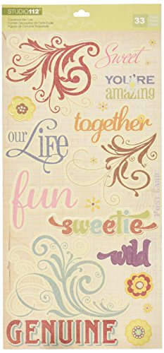 K&Company Swirl and Word Die-Cut Cardstock