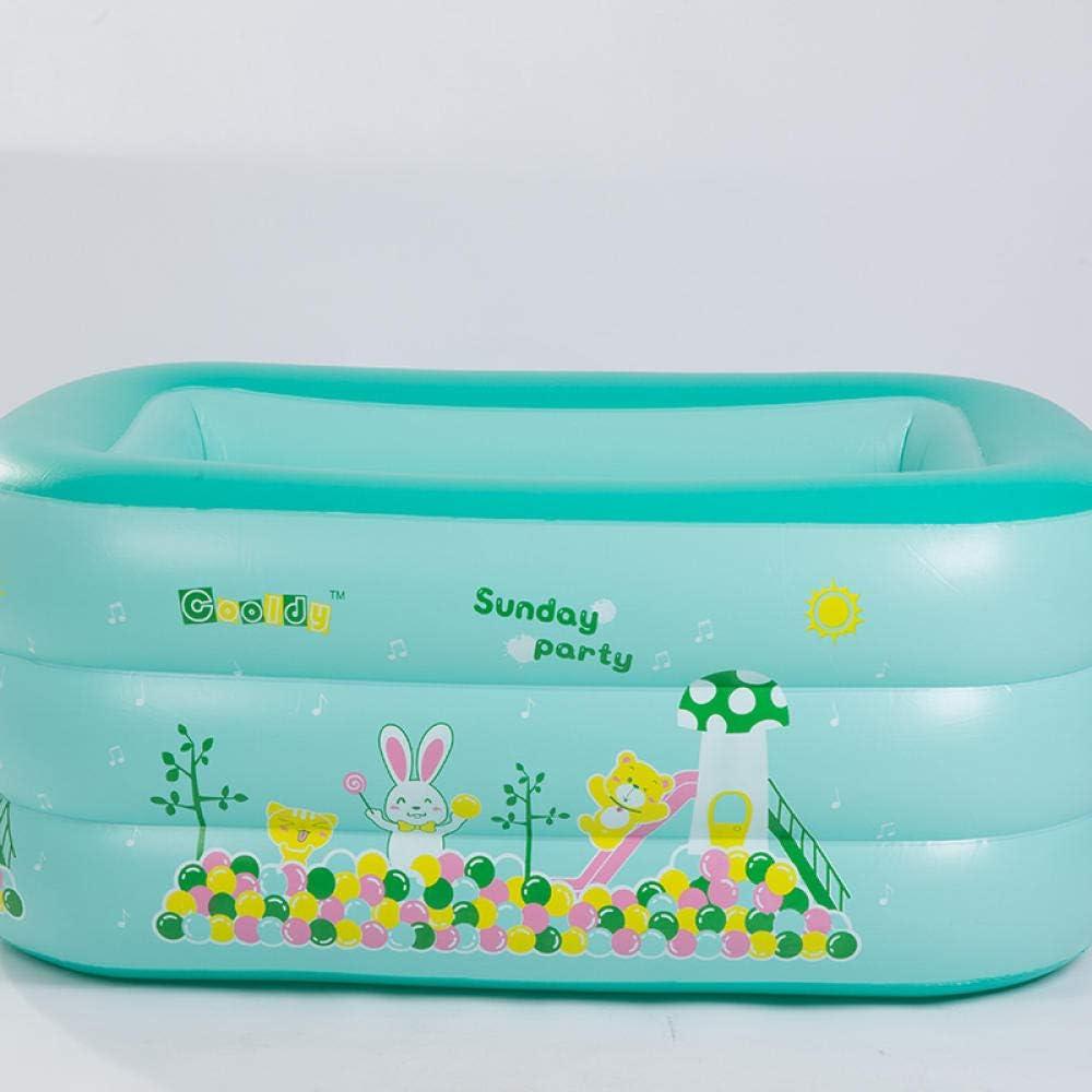 PROteccióN del Medio Ambiente 120 * 40 * 60 niños Piscina Inflable PVC Familia Jugar Agua Pesca remando Rectangular Interior y Exterior Piscinas para niños Adultos: Amazon.es: Jardín