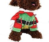 Freerun Pet Costumn Puppy Dog Clothes with Cap & Cloak Standing Warm Clothes - No Chest Flower, XXL