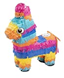 Donkey Pinata - Kids Birthday Party Supplies for Mexican Themed Party, Fiesta, Cinco de Mayo, Multicolored, 12.5 x 15.7 x 4.7 Inches