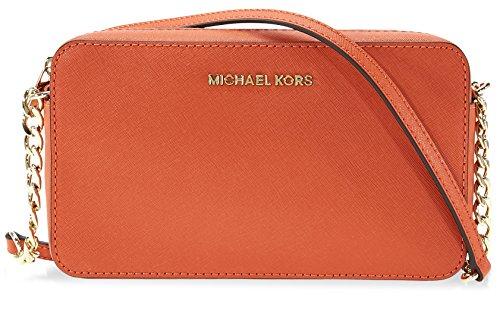 Michael Kors Jet Set Travel Medium Crossbody - - Kors Orange Michael