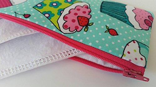 Tampon or sunglasses case- Cupcakes by LaviLor Bags