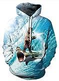 Zegoo Thin Hoodies for Summer Digital Print Hoodies 3D Hoodies Sweatshirt