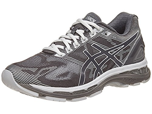 Asics Running Gloves (ASICS Men's Gel-Nimbus 19 Running Shoe, Carbon/White/Silver, 11 M US)