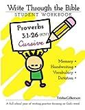 Write Through the Bible: Proverbs 3:1-26 KJV Cursive