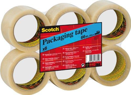 Scotch CT5066F6 Verpackungsklebeband (66 m x 50 mm, 6 Rollen) transparent