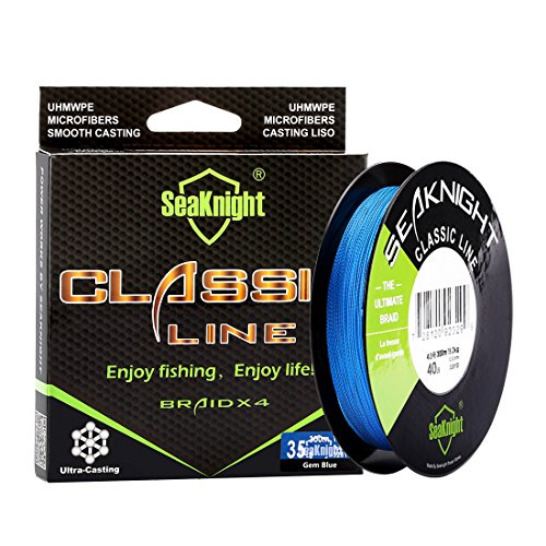 SeaKnight Classic 4 Strands Braided Fishing Line 300 m/327 yards Super braid Line Thinner,Stronger and Smoother Fishing Line 6-80 Lbs