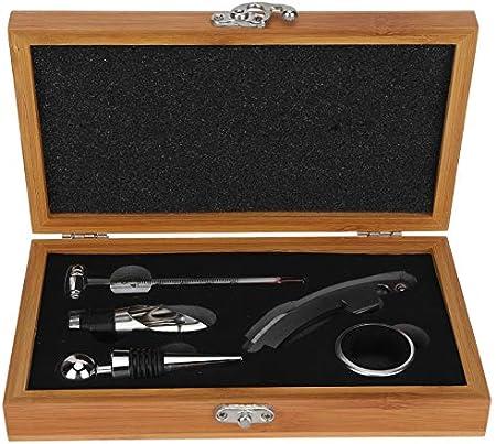 5 unids/set práctico abridor de botellas de vino para el hogar, sacacorchos, herramienta, accesorios para vino, regalo