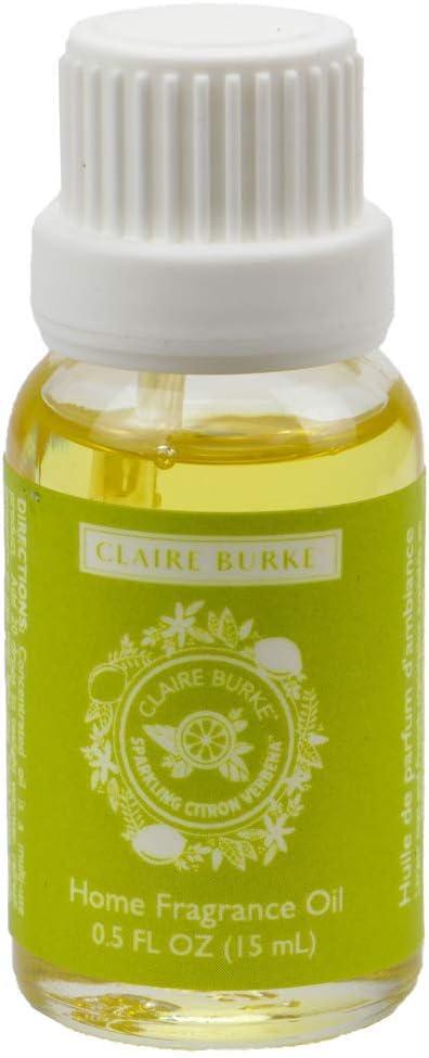 Claire Burke Home Fragrance Oil, Sparkling Citron Verbena, 0.5 oz (15 ml)