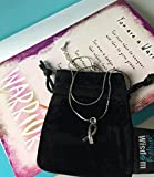 Smiling Wisdom - Pink Warrior Breast Cancer Survivor Journey Necklace Gift Set - BCA Strength Ribbon Necklace with Cobra Chain and Ribbon Charm Gift Set for Her