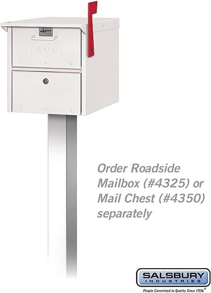 Roadside Mailbox Spreader 2 Wide White
