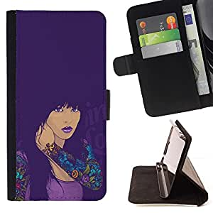 Momo Phone Case / Flip Funda de Cuero Case Cover - CHICA SEXY TATUAJE - HTC One M8