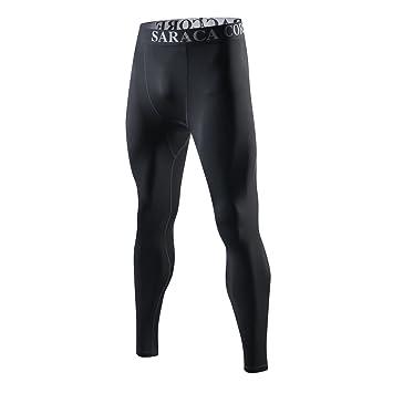 saracacore Pantalon de Compression Homme Legging de Sport Baselayer Sport  Fitness Musculation - Noir - Taille 88b1a5d6e1c