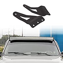 """Auxmart 54"""" Mounting Brackets Curved LED Light Bar for Chevrolet 07-13 Chevy GMC"""