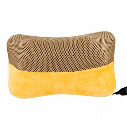 Carrosserie Équipement de Massage Cervical Épaule à la Taille du Cou Dos Coussin Lombaire Coussin Multifonctionnel Pillow Home,Jaune