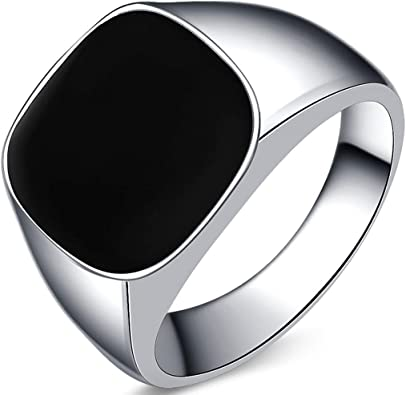 Amazon.com: Kingray Jewelry - Anillo de acero inoxidable con ...
