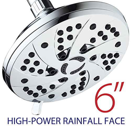 AquaDance High Pressure 6-inch 6-Setting Rain Shower Only $15.10 + MORE **Today Only**