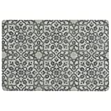 Vinyl Floor Mat, Durable, Soft and Easy to Clean, Ideal for Kitchen Floor, Mudroom or Pet Food Mat. Freestyle, Iron Filigree Pattern (2 ft x 3 ft) Review