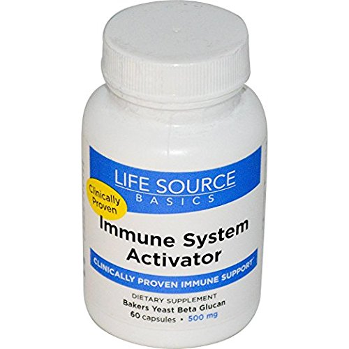Life Source Basics Immune System Activator -- 500 mg - 60 Capsules (Best Source Of Beta Glucan)