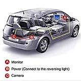 Backup-Camera-and-Monitor-Kit-AGPtEK-Universal-Waterproof-Adjustable-CMOS-Rear-view-License-Plate-Car-Rear-Backup-Camera-43-LCD-Rear-View-Monitor
